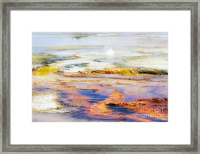 Yellowstone Abstract II Framed Print by Teresa Zieba