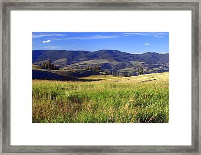 Yellowstone Landscape 3 Framed Print by Marty Koch