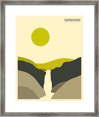 Yellowstone National Park Framed Print by Jazzberry Blue