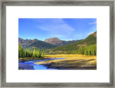 Yellowstone National Park Landscape Framed Print by Juli Scalzi