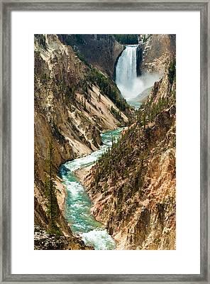 Yellowstone Waterfalls Framed Print by Sebastian Musial