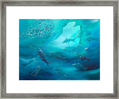 Yemaya And The Disciples Framed Print by Milagros Phillips