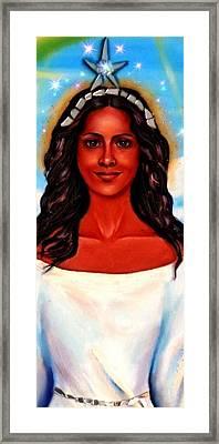 Yemaya-the Goddess Framed Print by Carmen Cordova