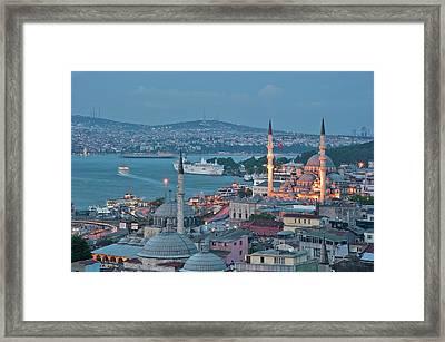 Yeni Camii Framed Print by Salvator Barki