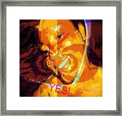 Yes Framed Print by Fania Simon