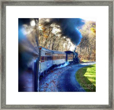 Yesterday By Train  Framed Print by Steven Digman