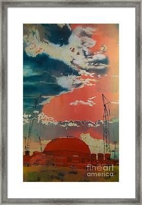 Yin And Yang Framed Print by Elizabeth Carr