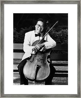 Yo-yo-ma (1955- ) Framed Print by Granger