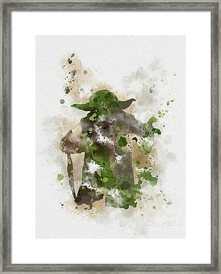 Yoda Framed Print by Rebecca Jenkins