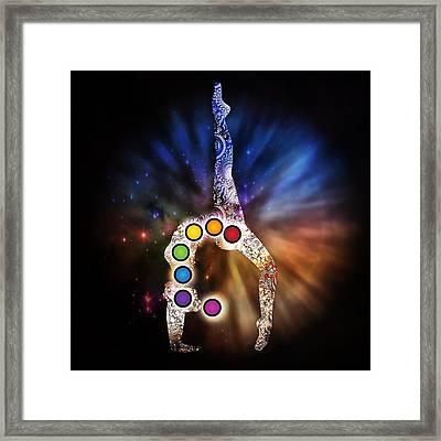 Yoga Chakra Art Framed Print by Serena King