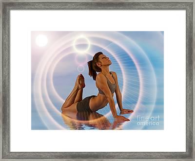 Yoga Girl 1209206 Framed Print by Rolf Bertram