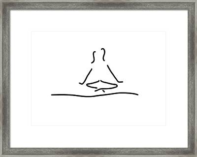 Yoga Joga Meditation Framed Print by Lineamentum