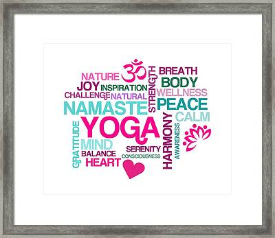 Yoga Studio Pastel Harmony Framed Print by Antique Images