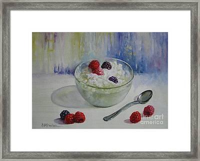 Yoghurt Time Framed Print by Elena Oleniuc
