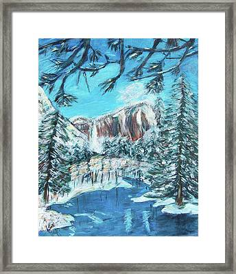 Yosemite In Winter Framed Print by Carolyn Donnell