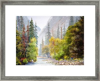 Yosemite Mist Framed Print by Shirley Braithwaite Hunt
