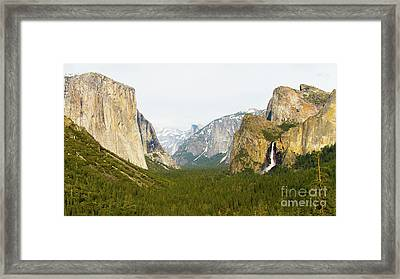 Yosemite Valley 7d6063 Framed Print by Wingsdomain Art and Photography