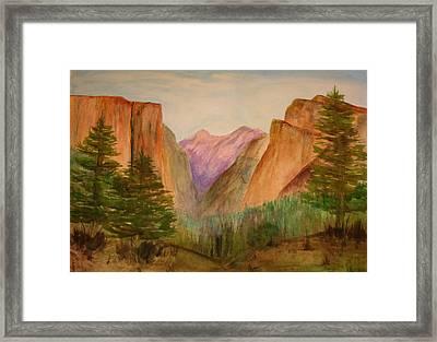 Yosemite Valley Framed Print by Julie Lueders