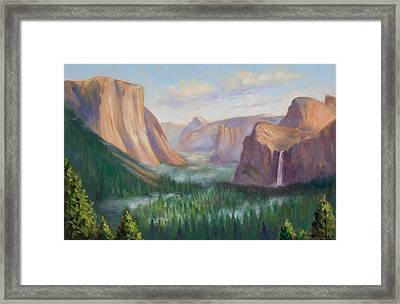 Yosemite Valley Framed Print by Karin  Leonard