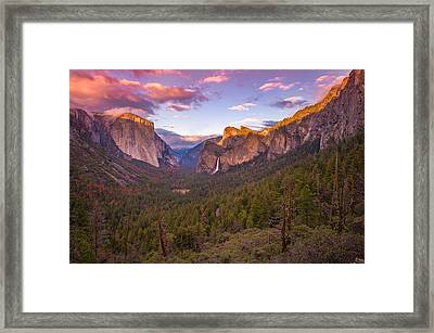 Yosemite Valley Spring Sunset Framed Print by Scott McGuire