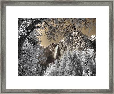 Yosemite Waterfall Framed Print by Jane Linders