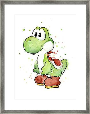 Yoshi Watercolor Framed Print by Olga Shvartsur