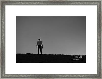 You Against The World Framed Print by Cesar Marino