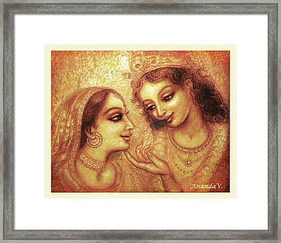 You Are My Darling Framed Print by Ananda Vdovic