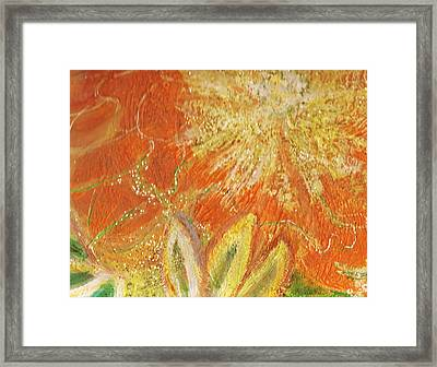 You Are My Sunshine Flower Framed Print by Anne-Elizabeth Whiteway