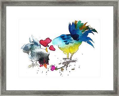 You Are My Sweet Heart Framed Print by Miki De Goodaboom
