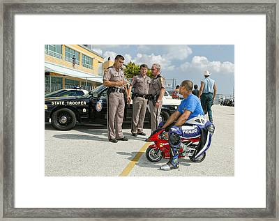 You Are Under Arrest !! Framed Print by Alfred Forns