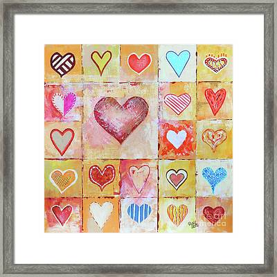 You Can Only See Clearly With Your Heart Framed Print by Jutta Maria Pusl