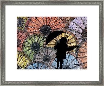 You Can Stand Under My Umbrella Framed Print by Sowjanya Sreeram