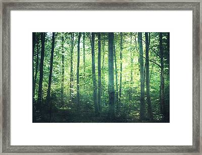 You Can Still Hear Her Song Framed Print by Violet Gray