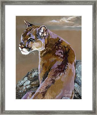 You Talking To Me Framed Print by J W Baker