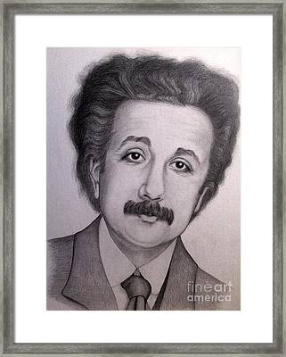 Young Albert Einstein Framed Print by Sonsoles Shack