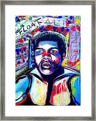 Young Ali Tribute Framed Print by Dave Rogers
