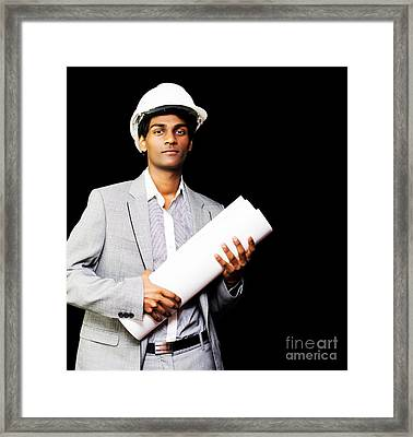 Young Asian Architect Framed Print by Jorgo Photography - Wall Art Gallery