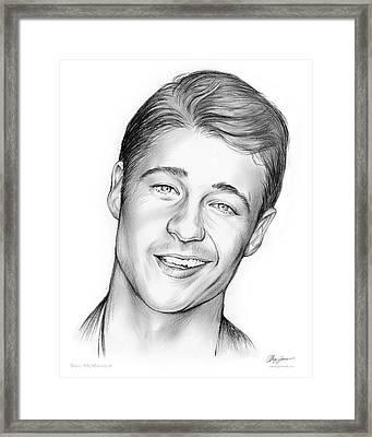 Young Ben Mckenzie Framed Print by Greg Joens