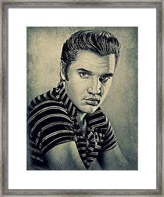 Young Elvis Framed Print by Andrew Read