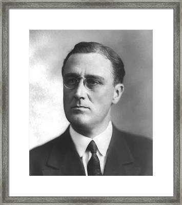 Young Franklin Delano Roosevelt Framed Print by War Is Hell Store