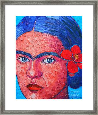 Young Frida Kahlo Framed Print by Ana Maria Edulescu