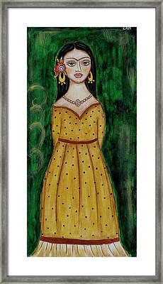 Young Frida Kahlo Series 1 Framed Print by Rain Ririn
