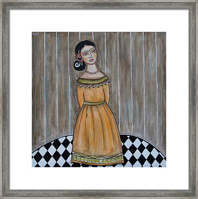 Young Frida Kahlo Series 2 Framed Print by Rain Ririn