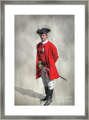Young George Washington Portrait  Framed Print by Randy Steele