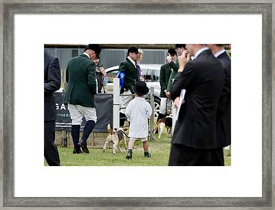Young Huntsman In Bowler Hat Framed Print by Simon Dack