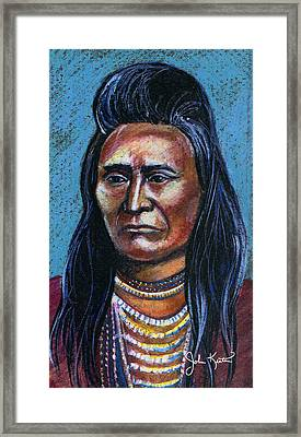 Young Indian Framed Print by John Keaton