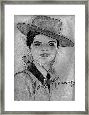 Young Jackie Kennedy Framed Print by Sonya Chalmers