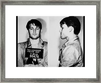 Young Jim Morrison Mug Shot 1963 Photo Framed Print by Tony Rubino