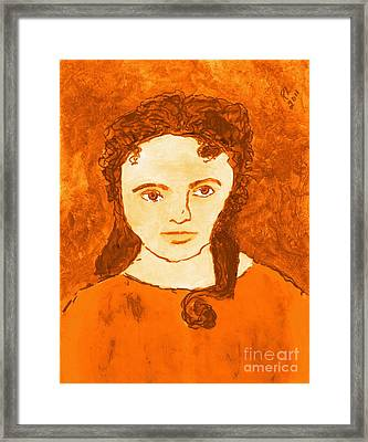 Young Liz Taylor 3 Framed Print by Richard W Linford